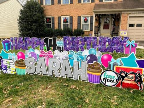 teen birthday yard sign burke va