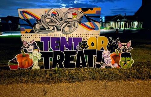 tent or treat halloween yard card lorton va