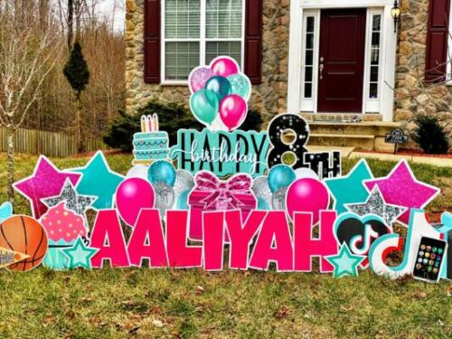 tiktok birthday yard sign maryland