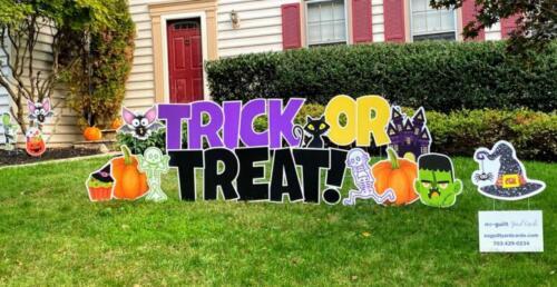trick or treat halloween yard signs springfield va