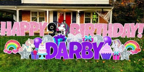 unicorn birthday yard sign package West Springfield, VA