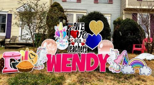unicorn teacher appreciation yard sign woodbridge va