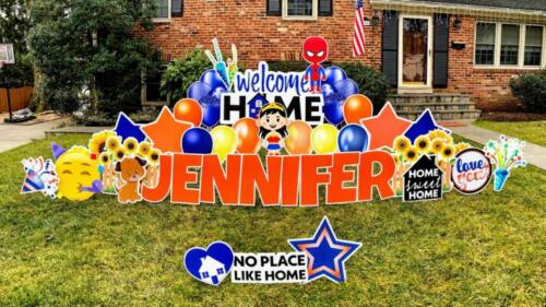 welcome home yard sign alexandria va
