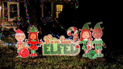 we've been elfed yard signs springfield va
