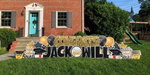 will and jack graduation yard card alexandria va
