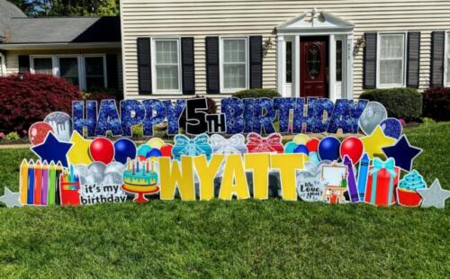 wyatt birthday yard card burke va