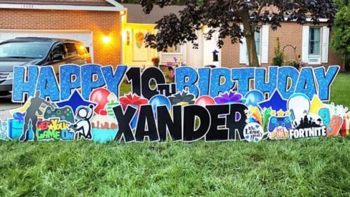 happy birthday yard sign chantilly va
