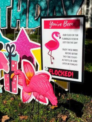 you've been flocked sign Alexandria VA