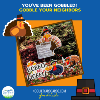 you've been gobbled thanksgiving yard card signs fairfax station va