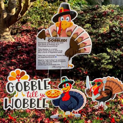 you've been gobbled thanksgiving yard card signs burke a