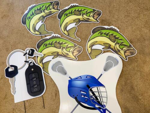 fishing lacrosse car keys