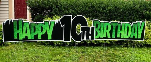 gamer flash happy birthday yard sign